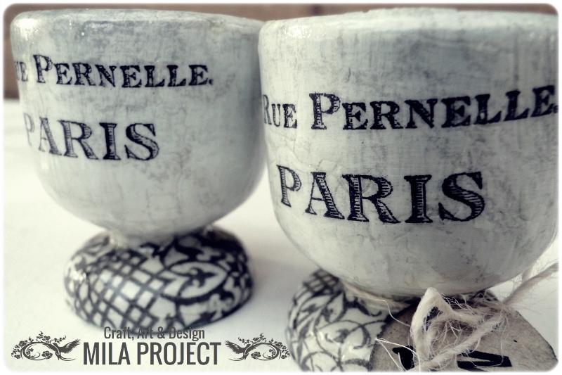 Kieliszki na jajka Paris 2
