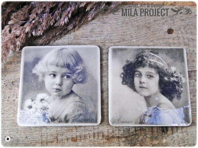 Magnesy na lodówkę Vintage babygirls 1