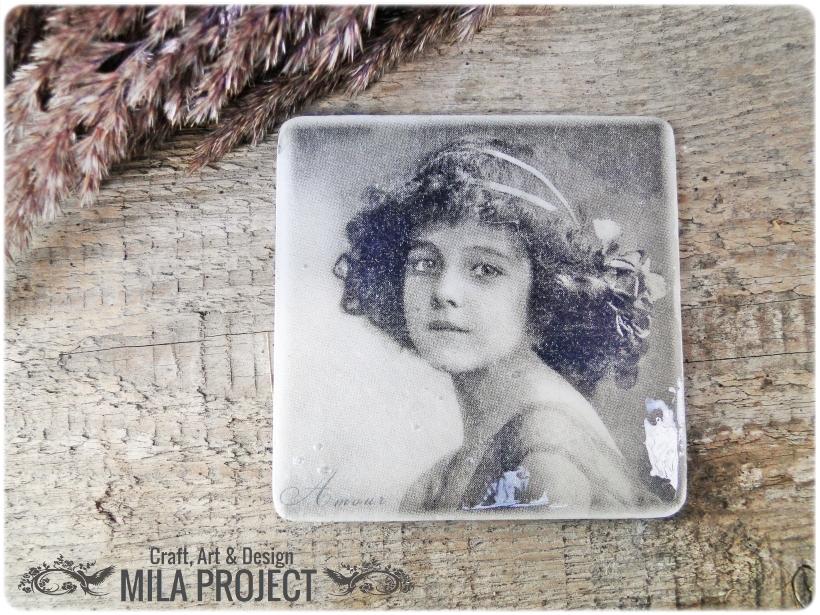 Magnesy na lodówkę Vintage babygirls 3