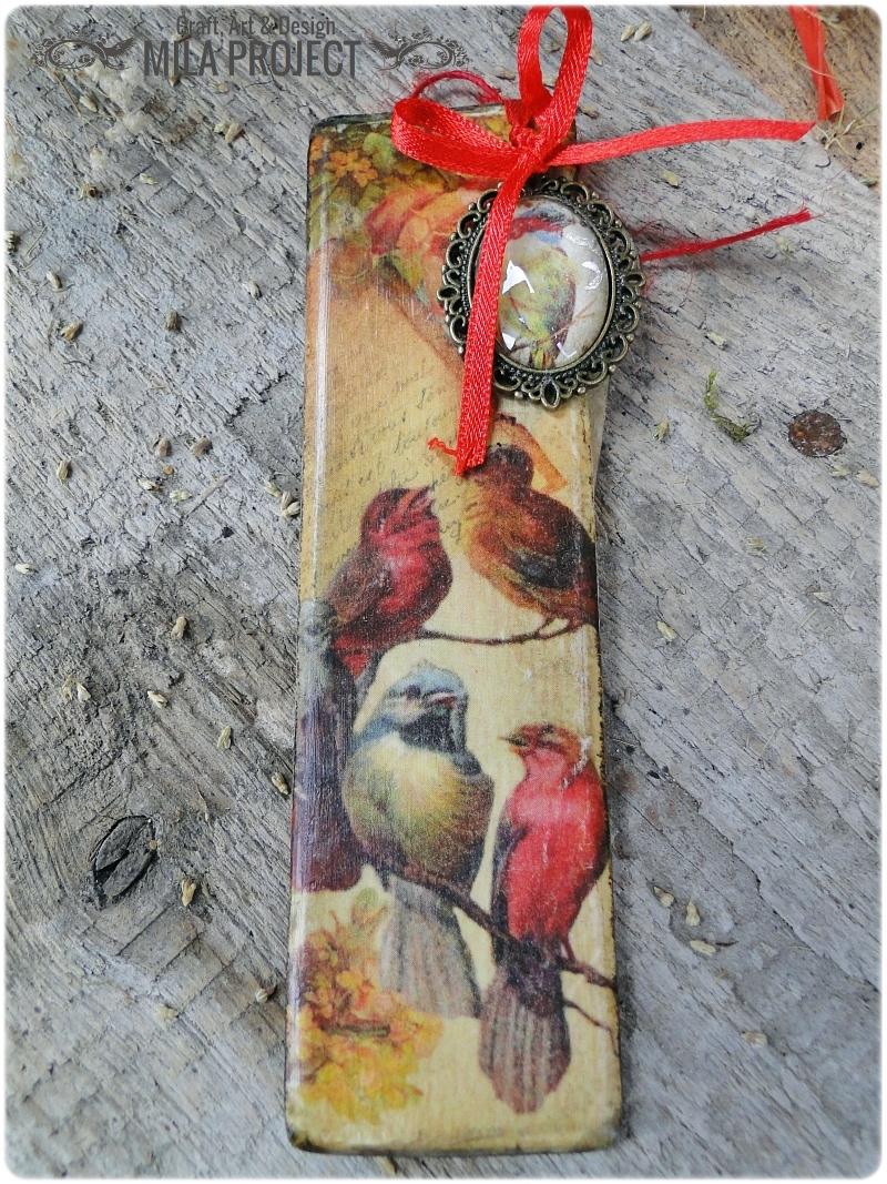 Zakładka Retro ptaszki 1