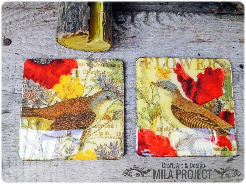 magnesy na lodówkę Birds in the garden 1