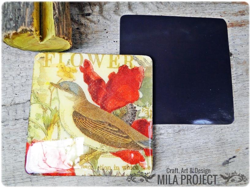 magnesy na lodówkę Birds in the garden 4