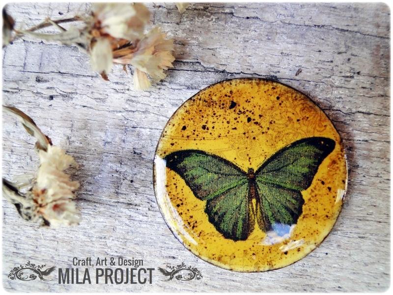 magnesy na lodówkę Motyle 3