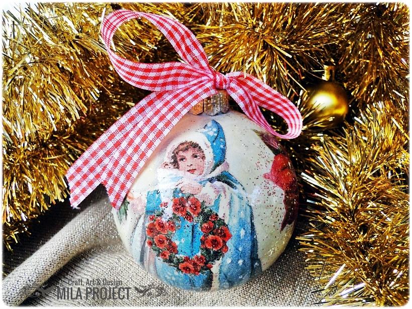 Bombka choinkowa Vintage Christmas 1