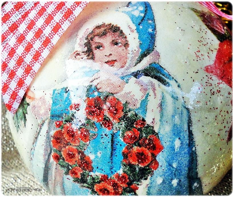 Bombka choinkowa Vintage Christmas 2