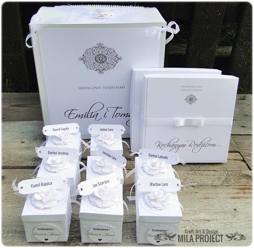 Pudełeczka dla gości White Wedding 5