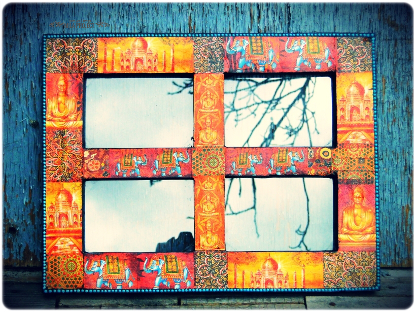 Ramka indyjska na 4 zdjęcia