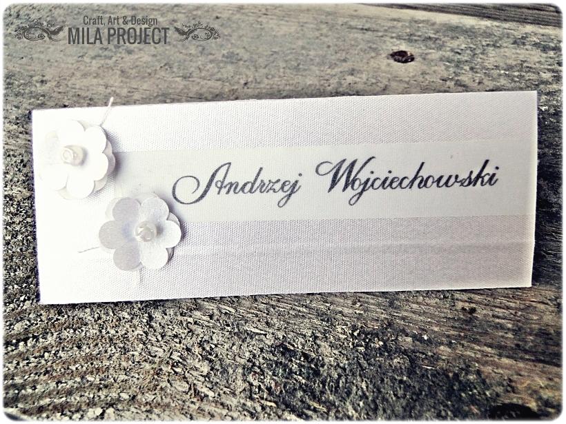 Winietki Silver Flowers 1