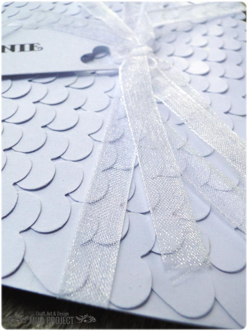 Zaproszenia ślubne White Hearts 3