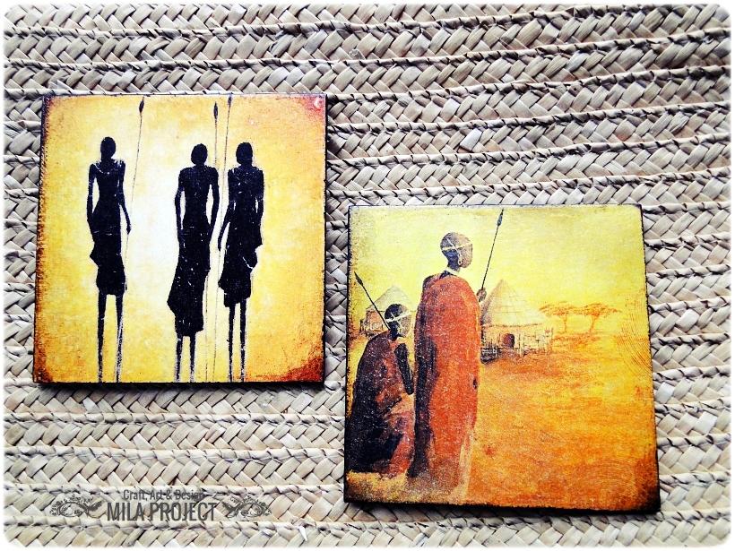 Podkładki w pudełku Życie w Afryce 1