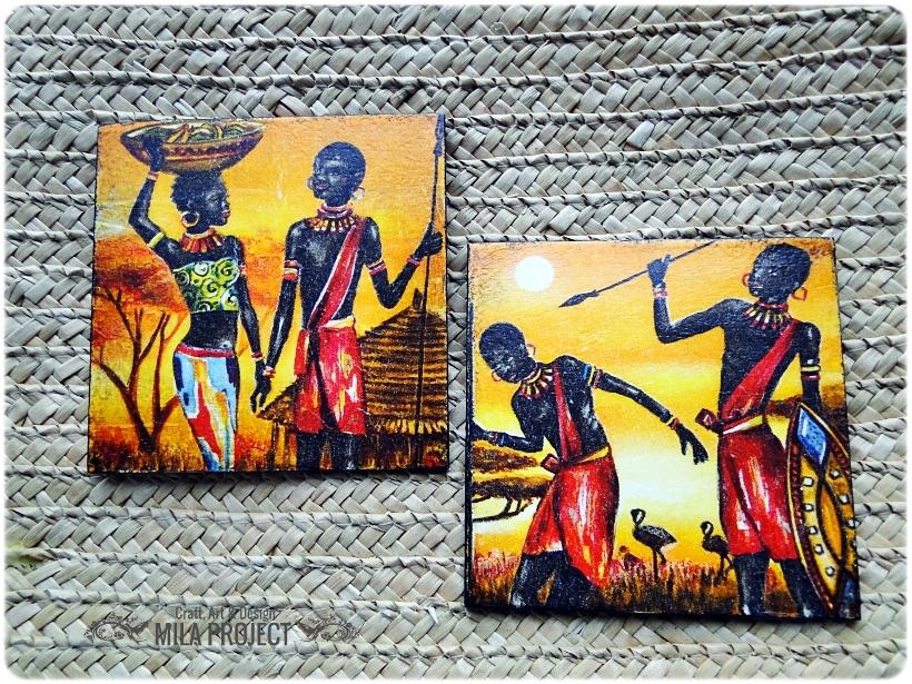 Podkładki w pudełku Życie w Afryce 2