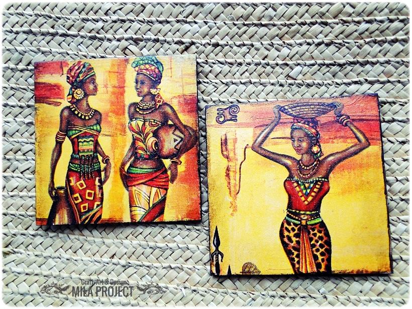 Podkładki w pudełku Życie w Afryce 3