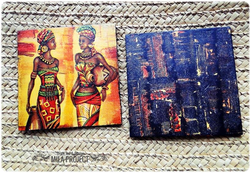 Podkładki w pudełku Życie w Afryce 4