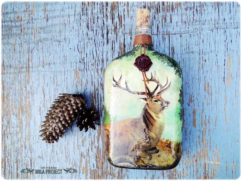 Butelka ozdobna Jeleń 1