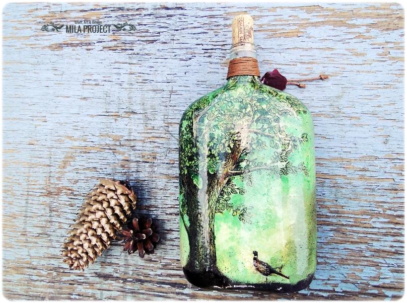 Butelka ozdobna Jeleń 2