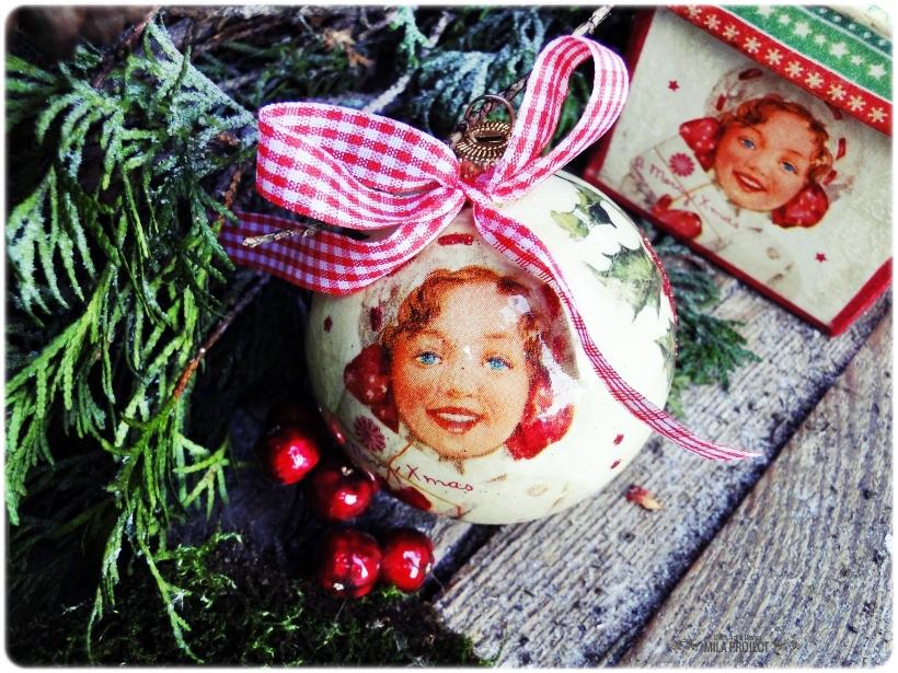 Bombka w pudełku I love Vintage Christmas 1