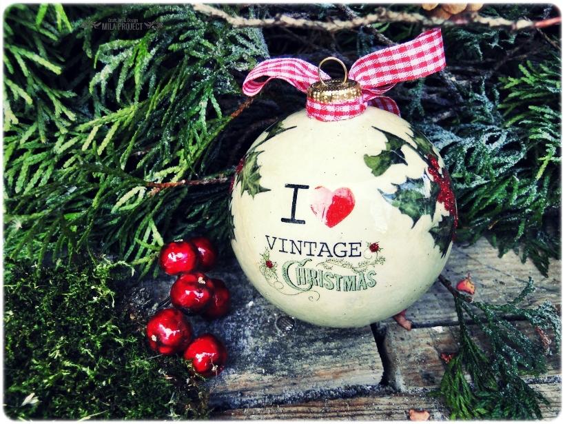 Bombka w pudełku I love Vintage Christmas 2