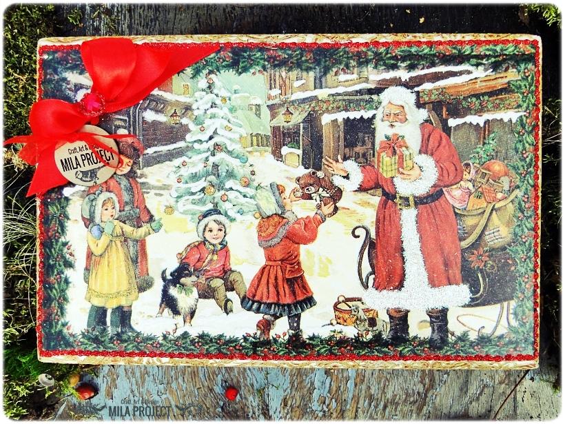 Bombki w drewnianym pudełku My Christmas 2