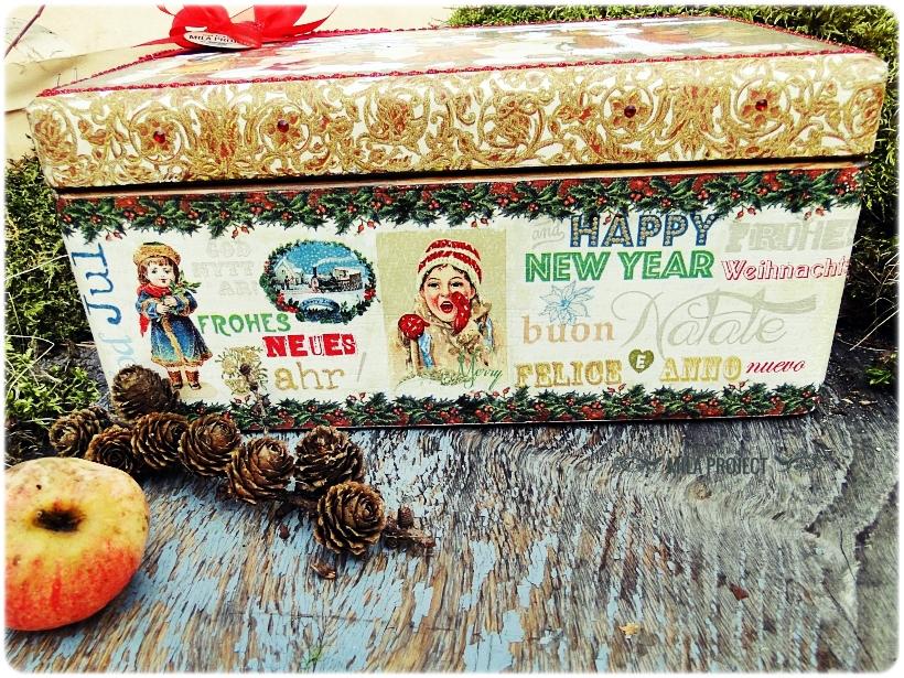 Bombki w drewnianym pudełku My Christmas 3