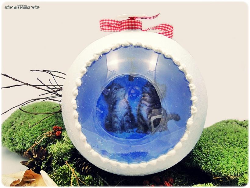 Szklana bombka z okienkiem Koty 3