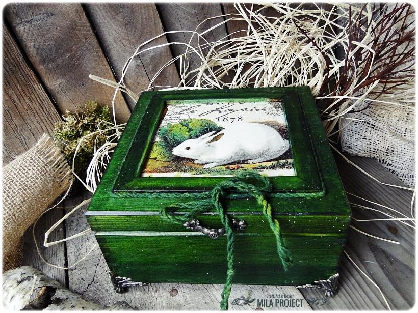Pisanki w pudełku Vintage Bunnies 1