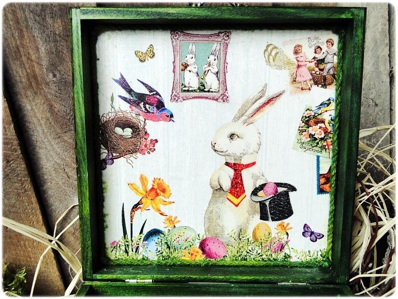 Pisanki w pudełku Vintage Bunnies 4