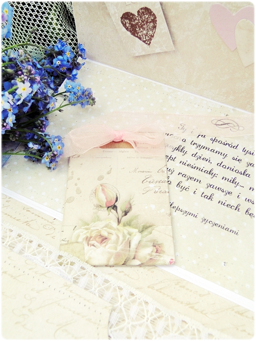 Kartka ślubna - koperta Romantic Letter 6