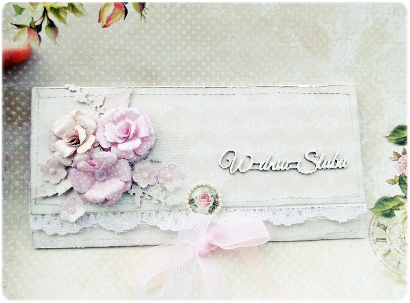Kartka ślubna - koperta Shabby Wedding 1