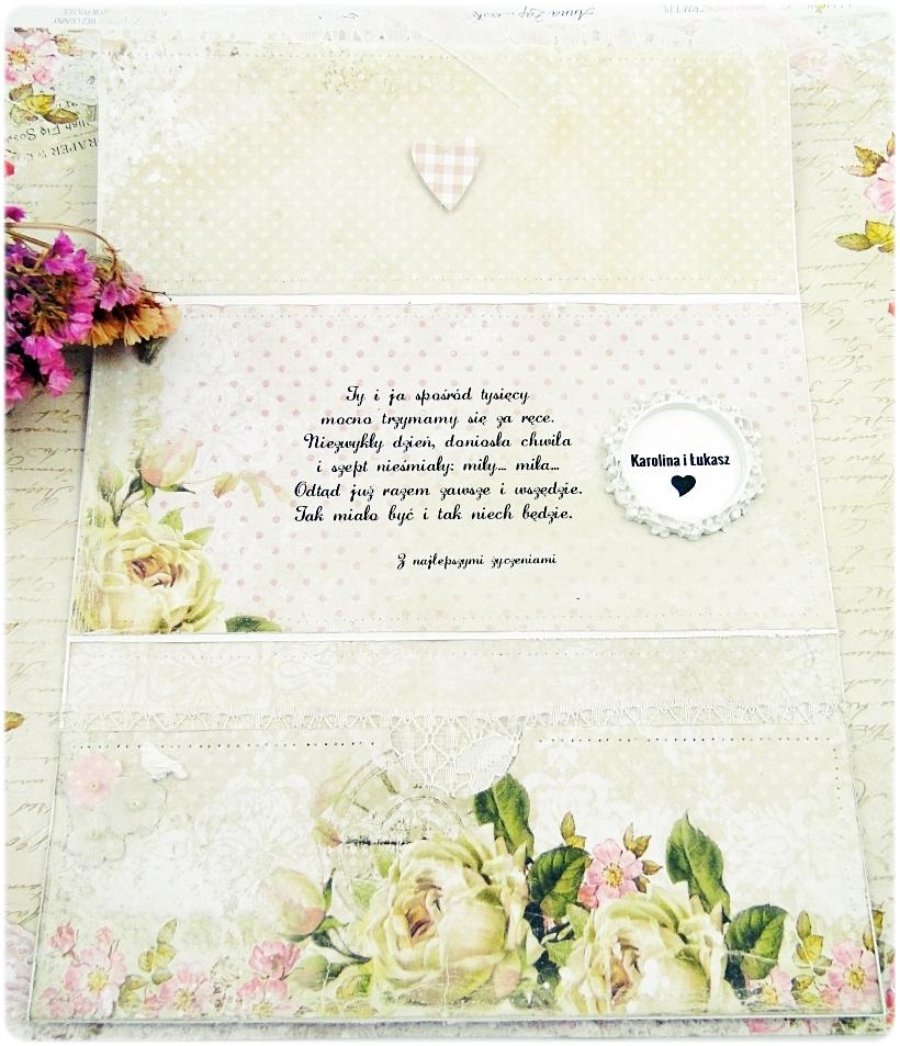 Kartka ślubna - koperta Shabby Wedding 4