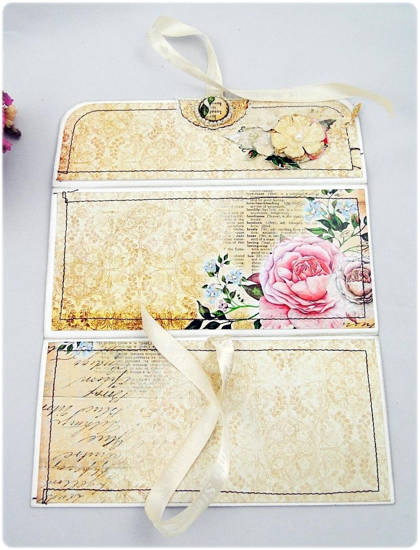 Kartka ślubna - koperta Vintage Love 4
