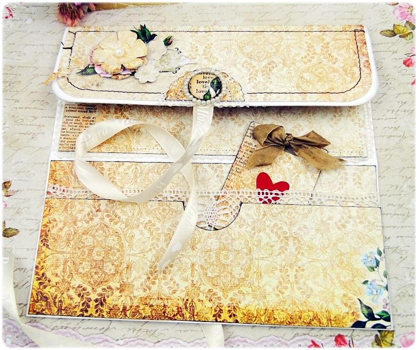 Kartka ślubna - koperta Vintage Love 5