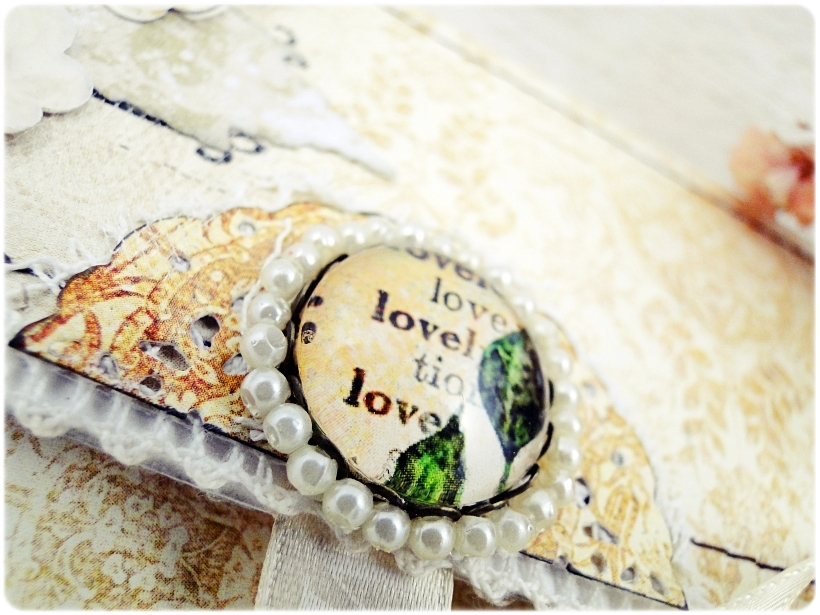 Kartka ślubna - koperta Vintage Love 7
