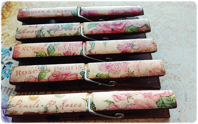 Klamerki ozdobne Roses & Pearls 5
