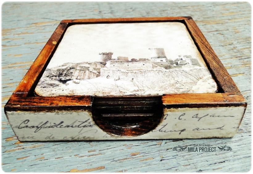 Podkładki pod kubki w pudełku Zamki 2