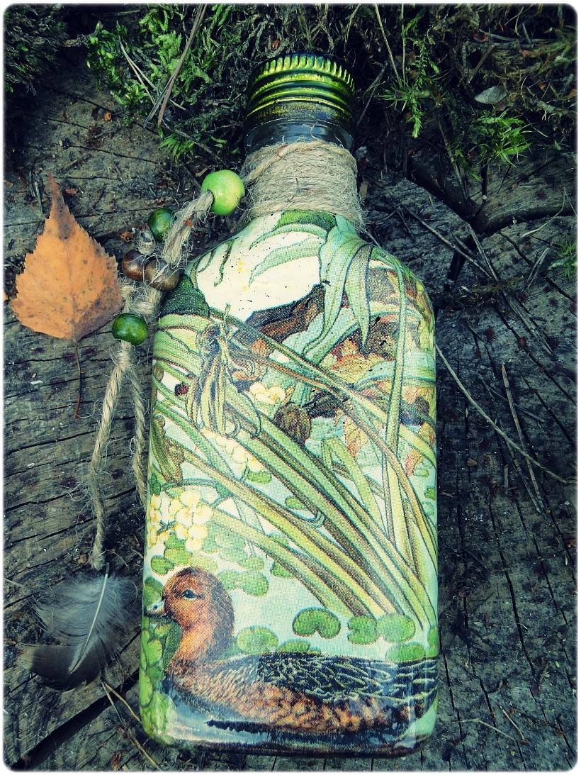 Butelka szklana, piersiówka Kaczki 4