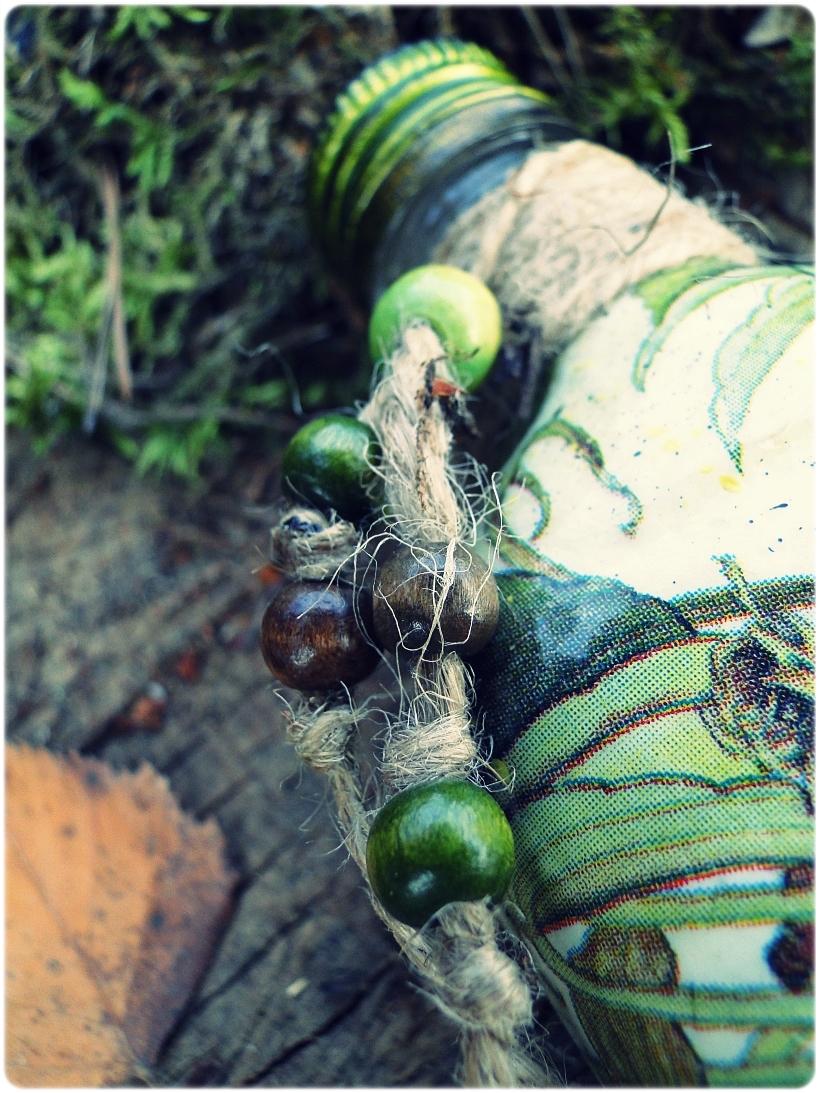 Butelka szklana, piersiówka Kaczki 5