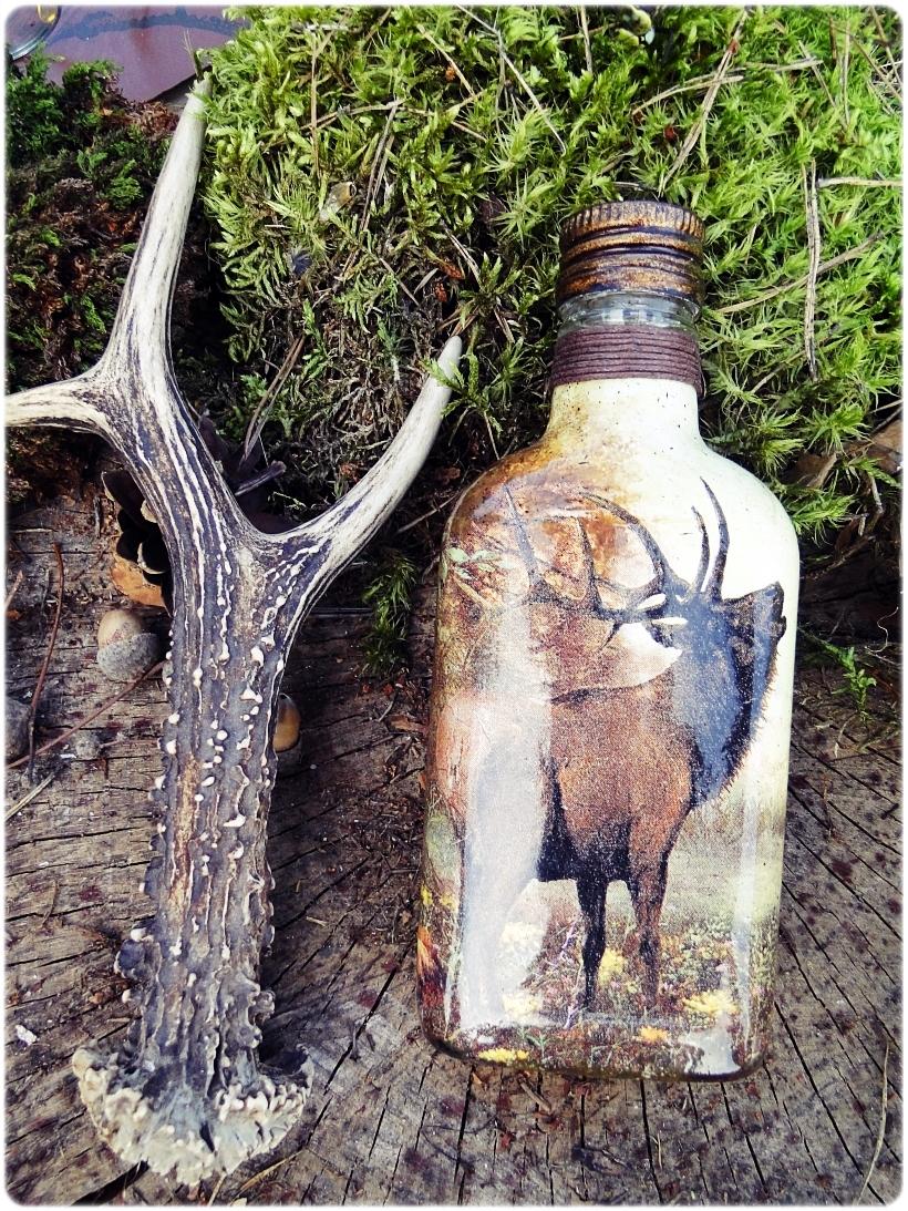 Butelka szklana piersiówka Rykowisko 1