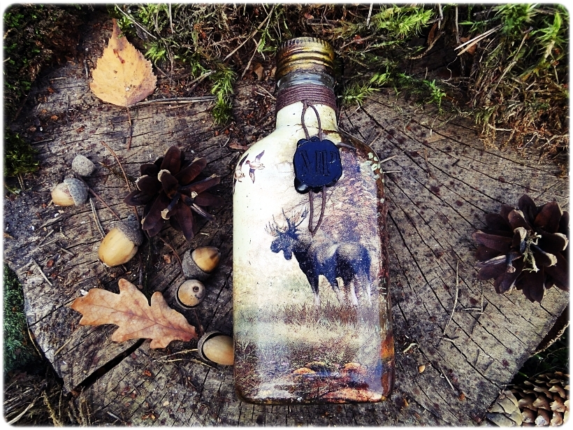 Butelka szklana piersiówka Rykowisko 2