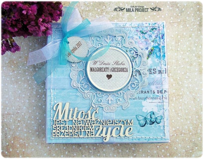 Kartka ślubna w pudełku Ślubuję Ci Miłość 1