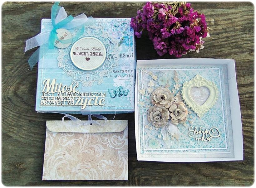 Kartka ślubna w pudełku Ślubuję Ci Miłość 2