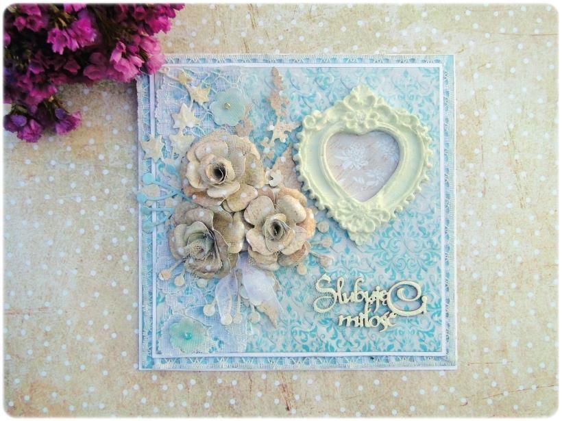 Kartka ślubna w pudełku Ślubuję Ci Miłość 3