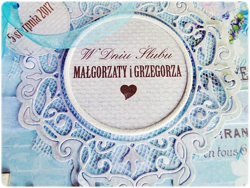 Kartka ślubna w pudełku Ślubuję Ci Miłość 6a