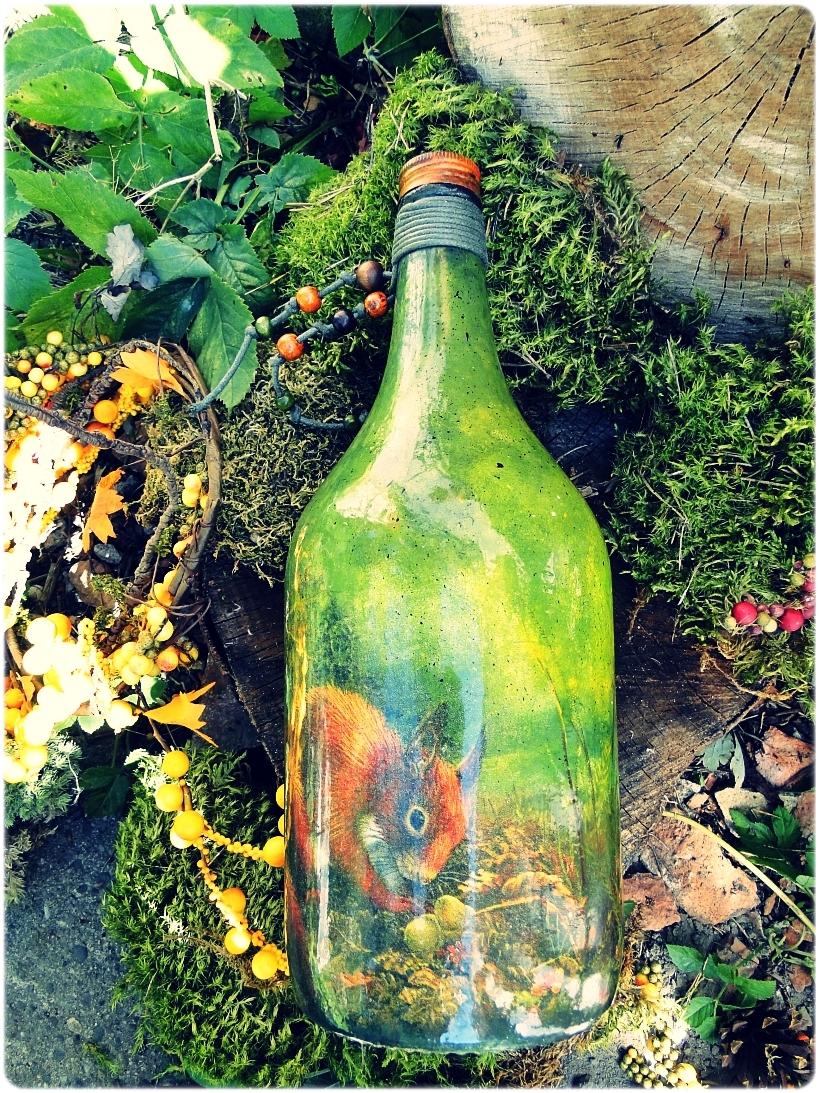 Butelka szklana na wino Wiewiórka 1