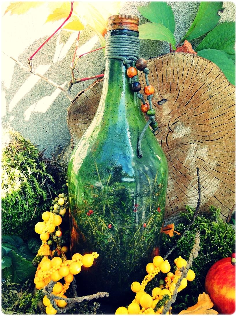 Butelka szklana na wino Wiewiórka 3