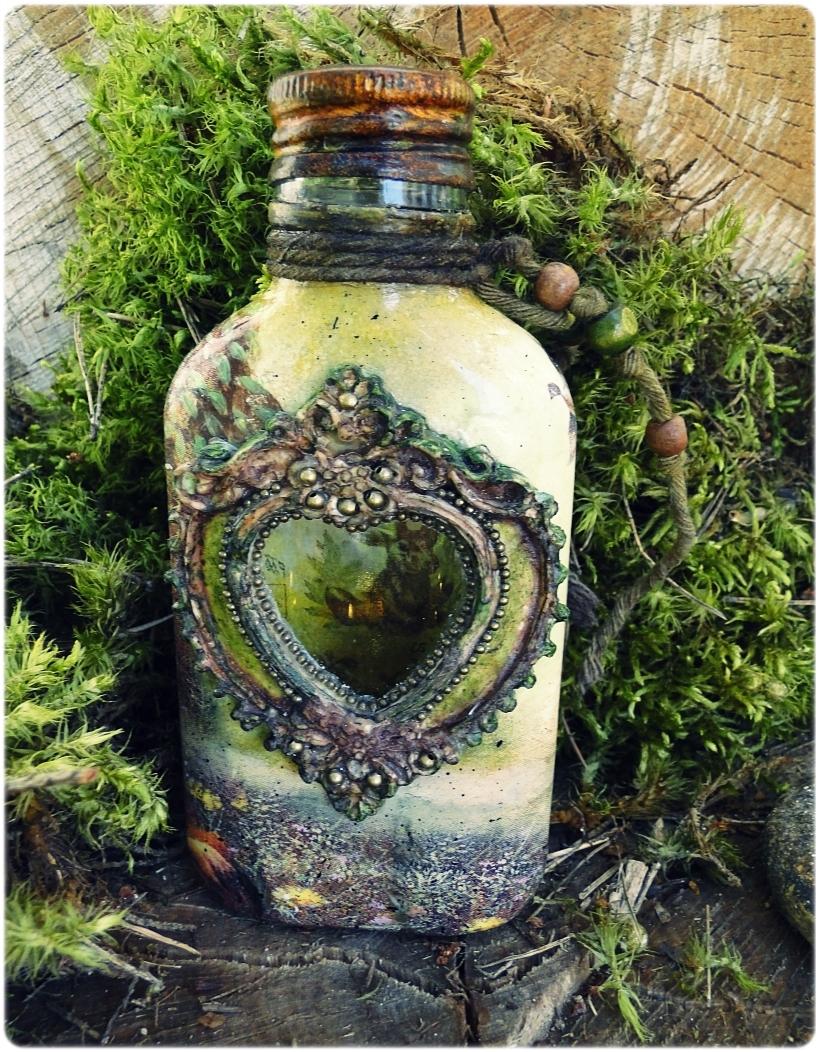 Butelka szklana, piersiówka Łoś 1