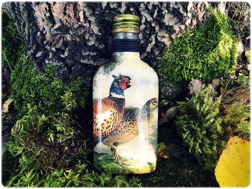 Butelka szklana, piersiówka Bażanty 1