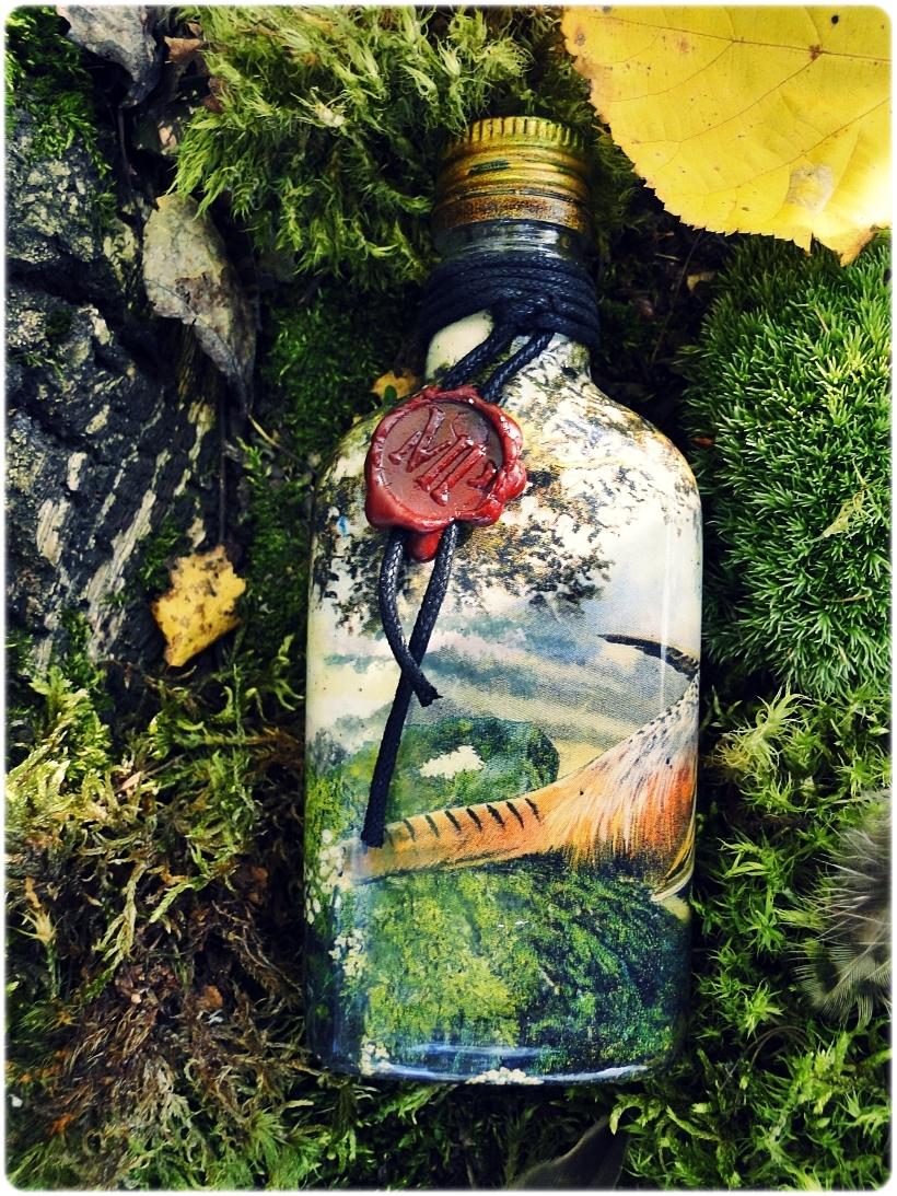 Butelka szklana, piersiówka Bażanty 2