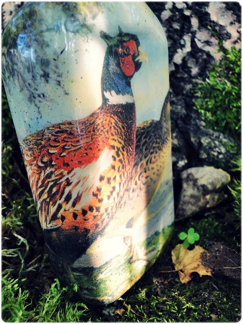 Butelka szklana, piersiówka Bażanty 5