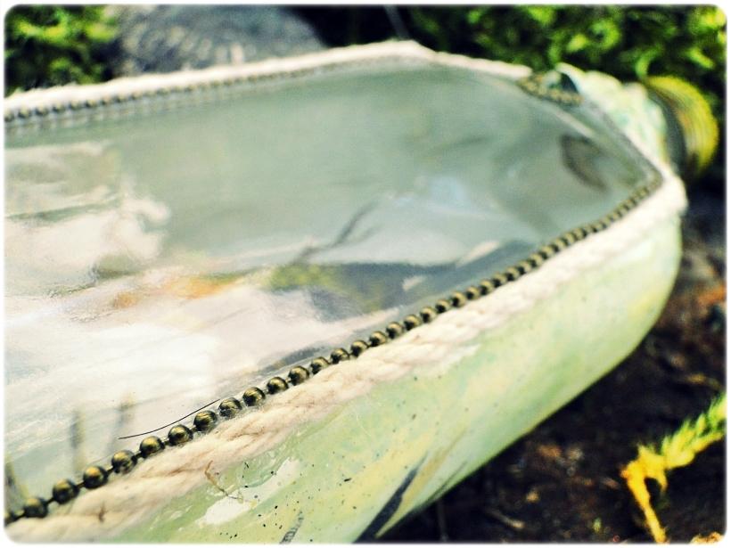 Butelka szklana piersiówka Muscicapa viridis 11