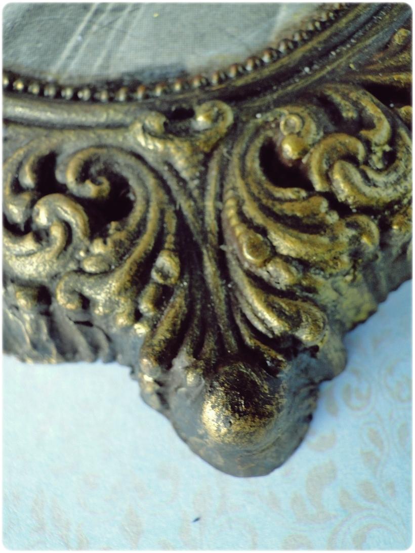 Gipsowa ramka z obrazkiem Aniołek 2